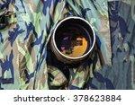 Birder Hiding In Camouflage...
