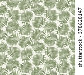 green palm leaves. seamless... | Shutterstock .eps vector #378628147