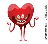 vector cartoon image of a funny ... | Shutterstock .eps vector #378628201
