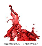 red juice splash closeup... | Shutterstock . vector #378629137