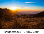 Stock photo sunrise in the mountain 378629284