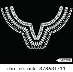 neck line ethnic embroidery... | Shutterstock .eps vector #378631711
