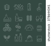 set of whisky icons. modern...