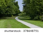 paved walking path through a... | Shutterstock . vector #378648751