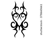 tattoo tribal vector design.... | Shutterstock .eps vector #378660661