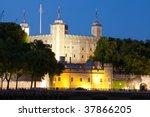 Night Shot Of Tower Of London