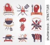 steak vintage label design | Shutterstock .eps vector #378677185