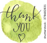 thank you calligraphic... | Shutterstock .eps vector #378682831