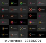 set of linear abstract logos.... | Shutterstock .eps vector #378683701