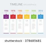 vector timeline infographic | Shutterstock .eps vector #378685681