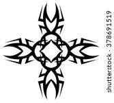tattoo. stencil. pattern.... | Shutterstock .eps vector #378691519