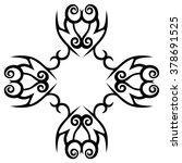 tribal tattoo design  vector... | Shutterstock .eps vector #378691525