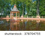 Small photo of SAINT - PETERSBURG, RUSSIA - JULY 12, 2014: Menagerie Pond Bosquet in The Summer Garden. The Summer Garden - park ensemble, founded by Peter the Great.
