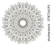 hand drawn flower mandala for... | Shutterstock .eps vector #378716191