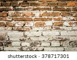 background of old vintage brick ... | Shutterstock . vector #378717301