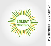 vector logo  energy efficiency. ... | Shutterstock .eps vector #378720427