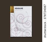 vector design for cover report  ... | Shutterstock .eps vector #378724087