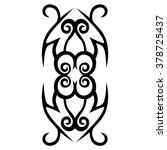 tattoo tribal vector design... | Shutterstock .eps vector #378725437