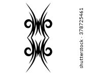 tattoos. stencil. patterns.... | Shutterstock .eps vector #378725461