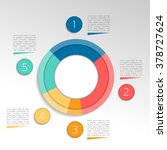 circle  round infographic. pie... | Shutterstock .eps vector #378727624