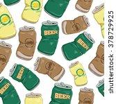 Set Of Broken Soft Drink Cans...