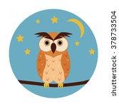 night owl circle icon. vector... | Shutterstock .eps vector #378733504