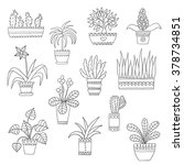 Cute Hand Drawn Vector Flowers...