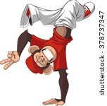 Stock vector funny monkey dance 378737347