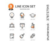 education line icon set | Shutterstock .eps vector #378737545