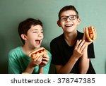 teenager school boys cooking... | Shutterstock . vector #378747385