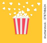 popcorn popping. red yellow... | Shutterstock . vector #378748624