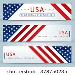 presidential election banner... | Shutterstock .eps vector #378750235