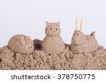 Cat  Pig And Sheep Sculptures...