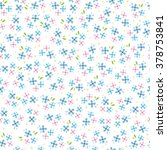 spring vector flowers seamless... | Shutterstock .eps vector #378753841