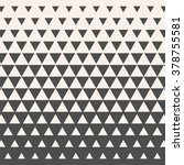 triangles. vintage halftone... | Shutterstock .eps vector #378755581