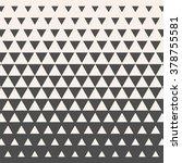 triangles. vintage halftone... | Shutterstock .eps vector #378755581