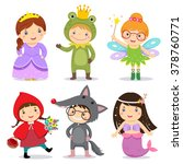 set of kids wearing in fairy... | Shutterstock .eps vector #378760771