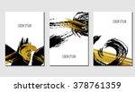 brush stroke template cards set ... | Shutterstock .eps vector #378761359