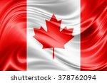 canada flag of silk | Shutterstock . vector #378762094