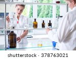 two scientists during work in... | Shutterstock . vector #378763021