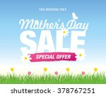 mother's day sale banner | Shutterstock .eps vector #378767251
