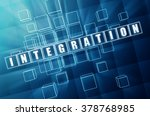 integration   text in 3d blue... | Shutterstock . vector #378768985