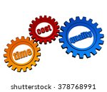 time  cost  quality   text in... | Shutterstock . vector #378768991