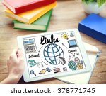 links global communication... | Shutterstock . vector #378771745