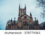 overcast winter season sky over ... | Shutterstock . vector #378774361