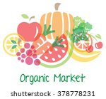 fruits vector  organic market