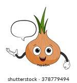 cartoon onion with text  a hand ...