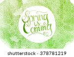wake up. spring is coming... | Shutterstock .eps vector #378781219