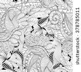 tracery seamless calming... | Shutterstock . vector #378785011