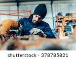manual worker on a workshop | Shutterstock . vector #378785821